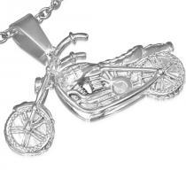 Prívesok z chirurgickej ocele Motorbike