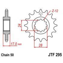 Sekundárne reťazové koliesko JT 15 zubov