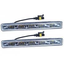 Svetlá denného svietenia 5 HIGH POWER LED 12V / 24V (182x23x51 mm)