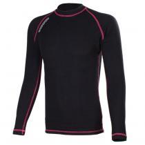 Termo tričko RSA Heat čierno-ružové dlhý rukáv