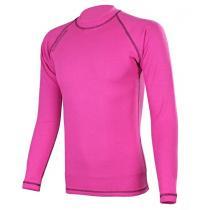 Termo tričko RSA Heat ružovo-čierne dlhý rukáv