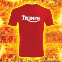 Tričko s motívom Triumph červené