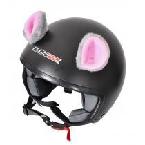 Uši na helmu Myška ružová