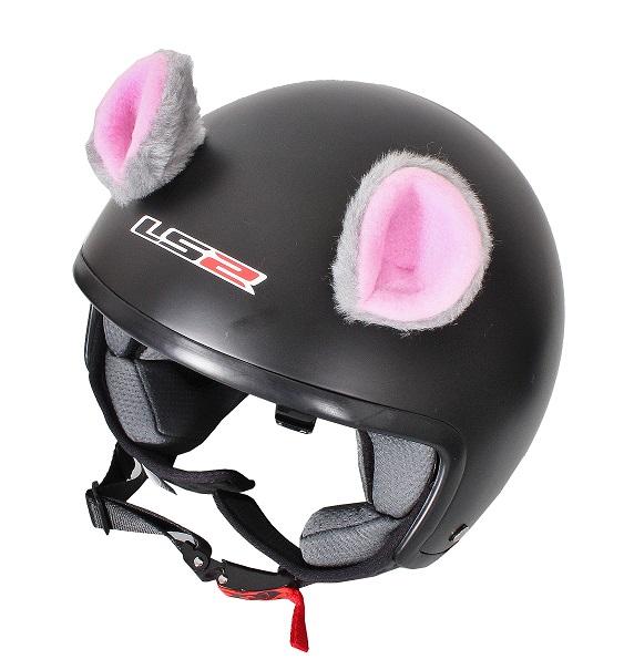 cc7f6affcadc9 Uši na prilbu Myška ružová | Motozem.sk
