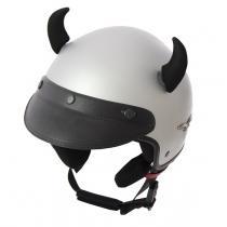 Uši na helmu Rožky čierne