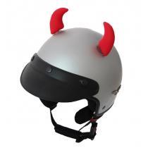 Uši na helmu Rožky červené