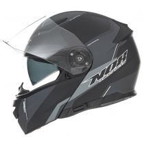 Vyklápacia prilba na motorku NOX N965 Score čierno-šedá