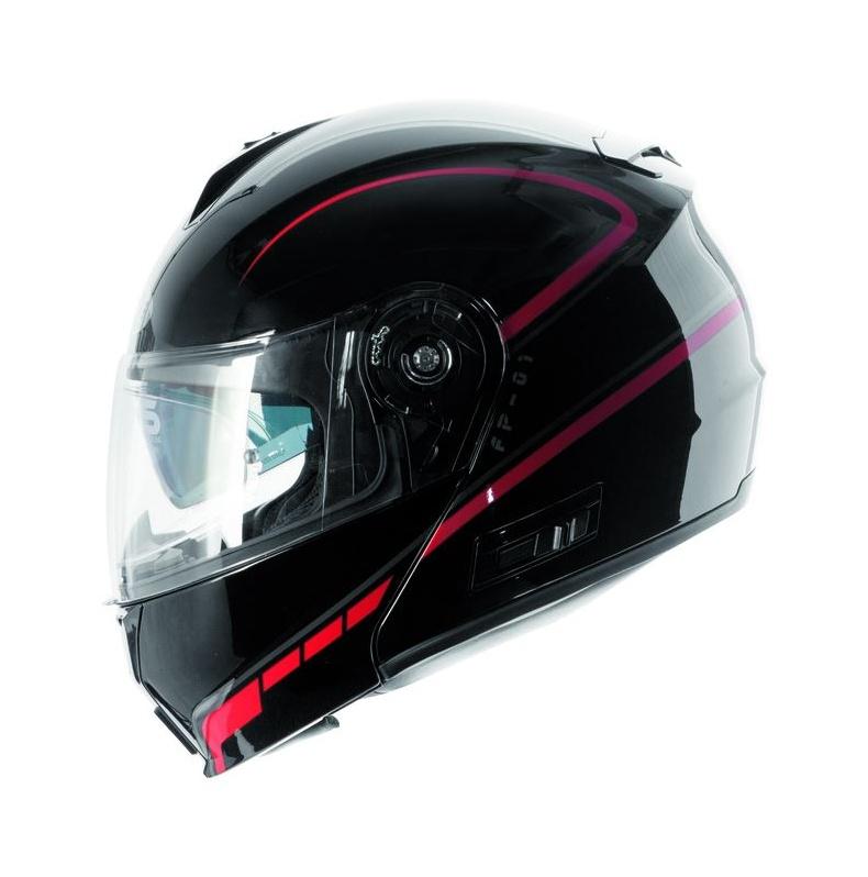 Vyklápací prilba na motorku Ozone FP-01 - čierno   červená + Pinlock  vypredaj 4775f6291e7