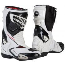 Topánky na motorku Rebelhorn Lap bielo-čierne vypredaj