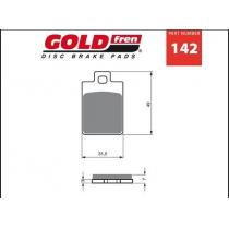 Brzdové doštičky Goldfren AD 142 vypredaj