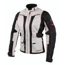 Dámska bunda na motorku Ozone Madame šedo / čierna vypredaj