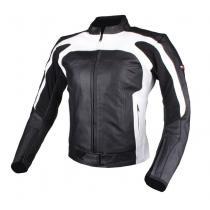 Dámska bunda na motorku Tschul 840 čierno-biela vypredaj