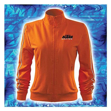 Dámska mikina s motívom KTM oranžová výpredaj