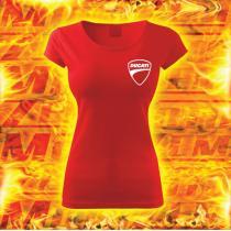 Dámske tričko s motívom Ducati červené vypredaj