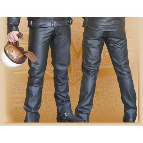 Kožené moto nohavice Klasik výpredaj