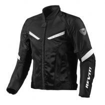 Letná bunda na motorku Revit GT-R Air čierno-biela vypredaj