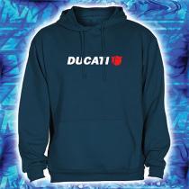 Mikina s motívom Ducati navy s kapucňou výpredaj