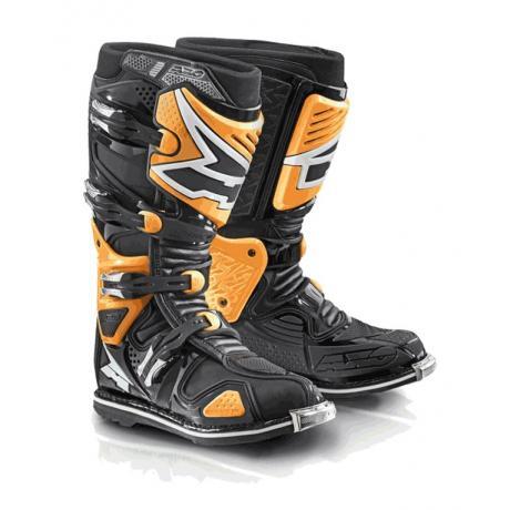 Moto topánky AXO A2 čierno-fluo oranžové vypredaj