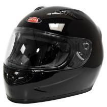 Prilba na motorku Akira 2243 čierna lesklá vypredaj