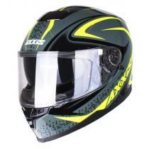 Prilba na motorku Axxis Alert šedo-fluo žltá vypredaj