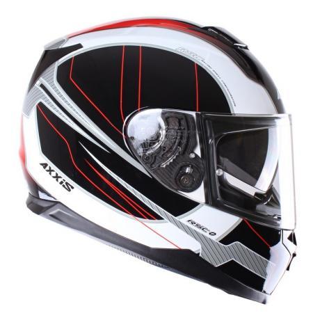 Prilba na motorku Axxis Debut čierno-červená vypredaj