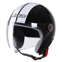 Prilba na motorku otvorená Axxis Zyclo Bitoni čierno-biela vypredaj