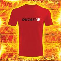 Tričko s motívom Ducati červené vypredaj