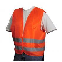 Výstražná moto vesta reflexné pruhy Neon